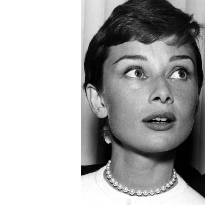 Audrey Hepburn leikkautti hiuksensa lyhyiksi jo 1953