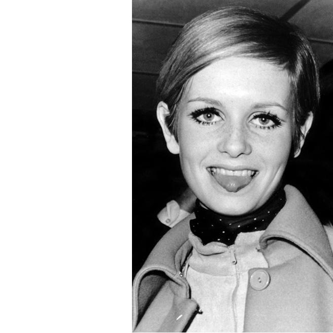 Twiggy sai lyhyet hiukset 1966 mikä johti supermsllin uran nousujohteeseen.