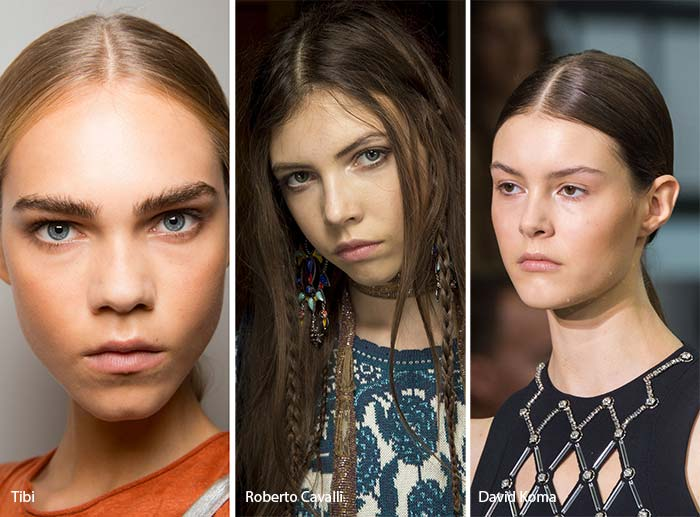 spring_summer_2017_hairstyles_trends_center_parted_hair