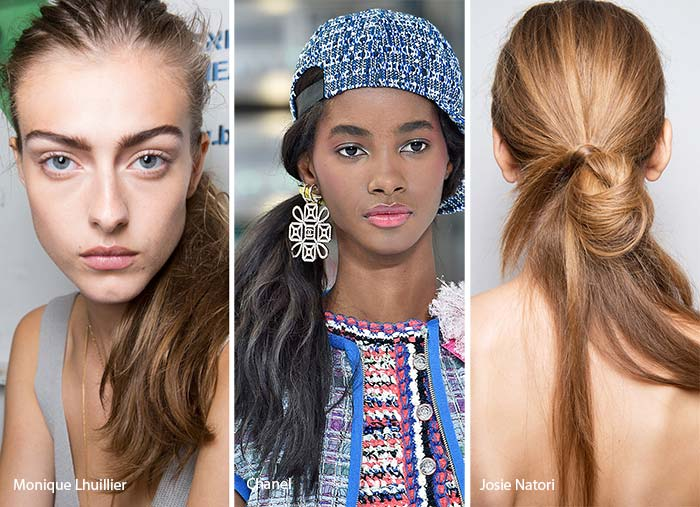 spring_summer_2017_hairstyles_trends_low_side_ponytails