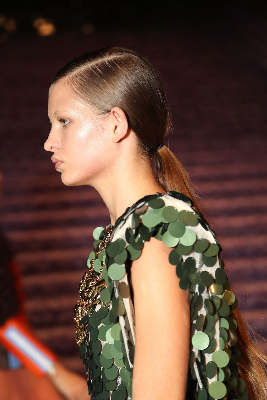 The City: Paris The Show: Miu Miu The Look: Sleek ponytails