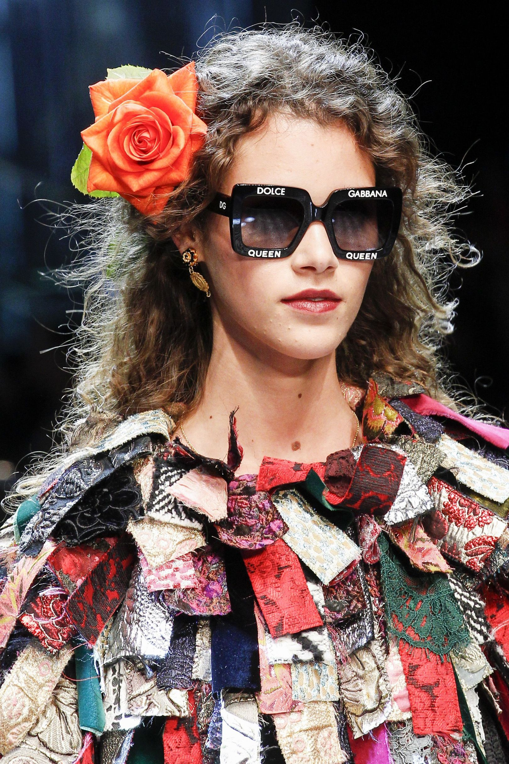 The City: Milan The Show: Dolce & Gabbana The Look: Crowns & flowers