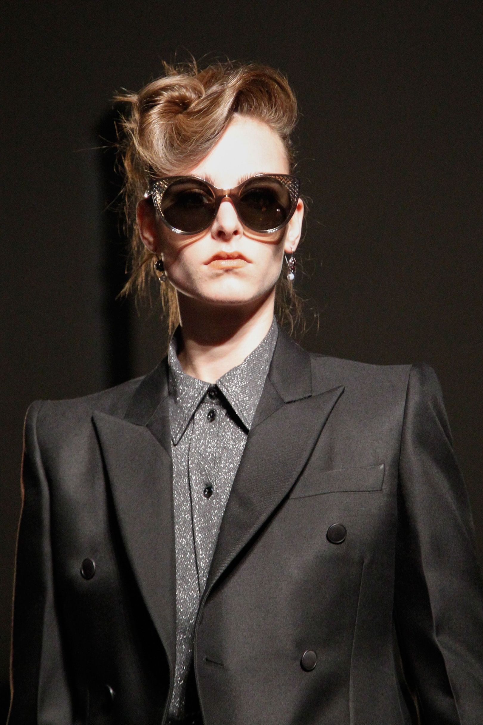 The City: Milan The Show: Bottega Veneta The Look: Coiffed fringes