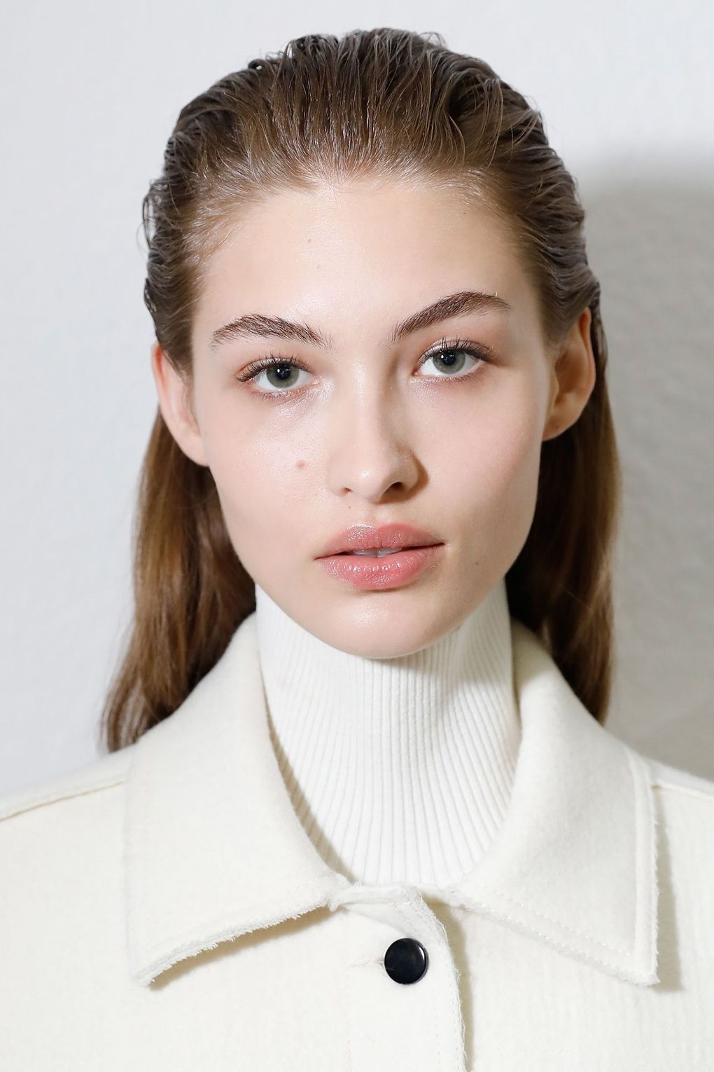 The City: Milan The Show: Sportmax The Look: Slicked-back hair