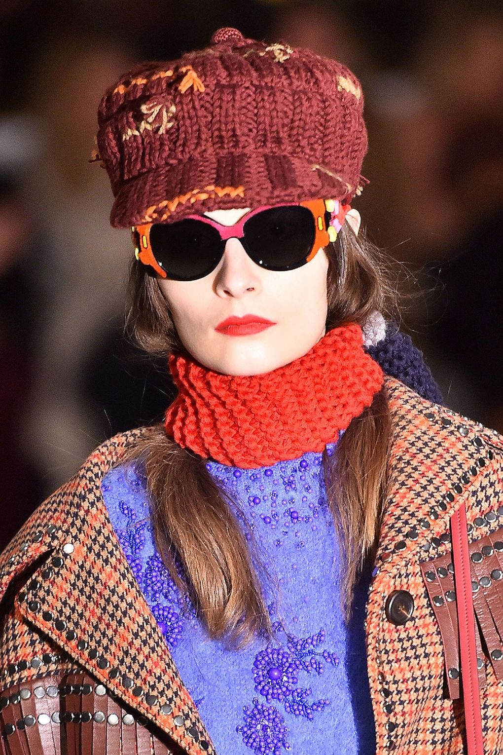 The City: Milan The Show: Prada The Look: Tucked-into-scarf-hair