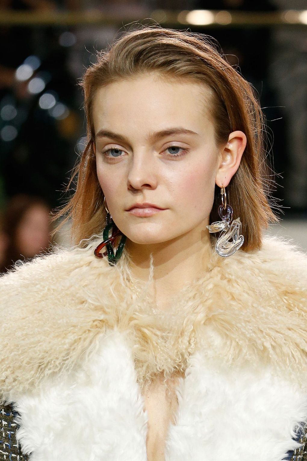 The City: London The Show: Peter Pilotto The Look: Pushed-back hair