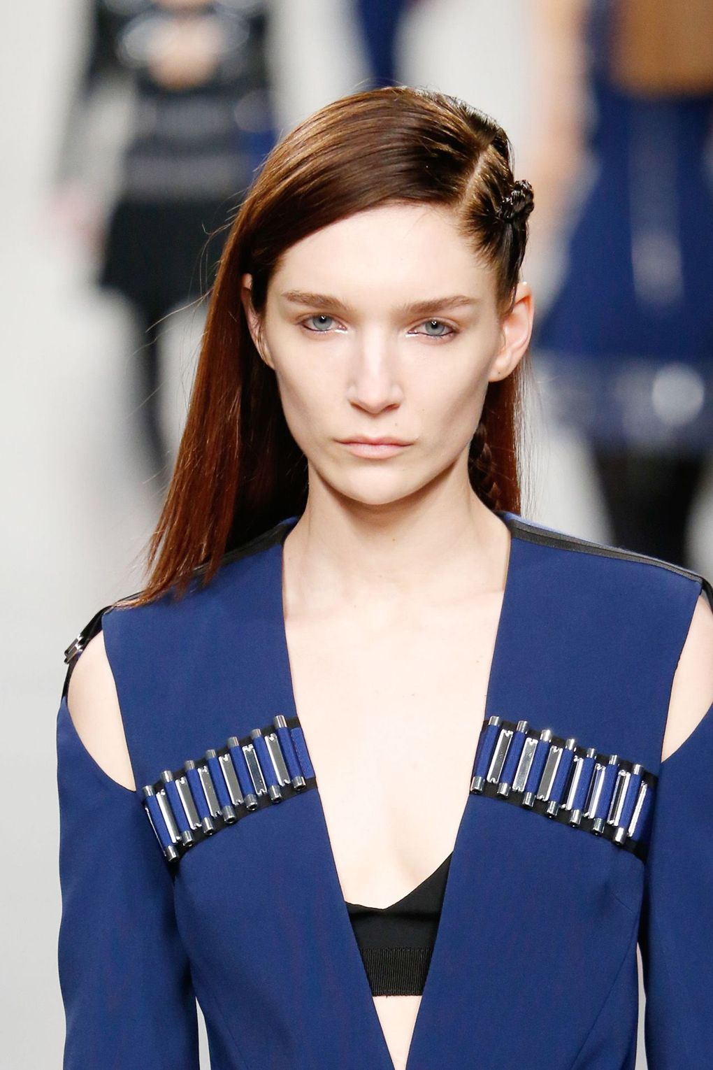 The City: London The Show: David Koma The Look: Side-swept hair