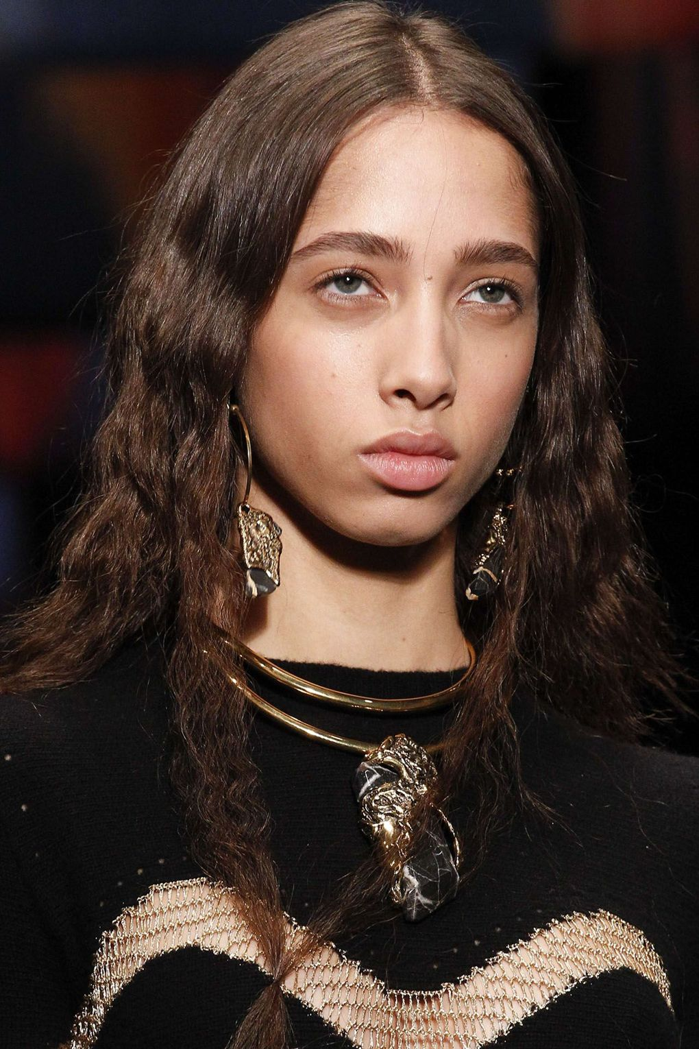 The City: Paris The Show: Alexander McQueen The Look: Crimped hair